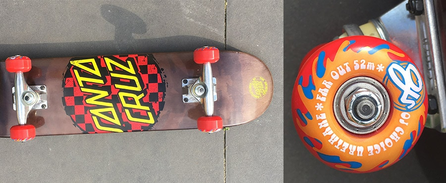 Santa Cruz kids skateboard