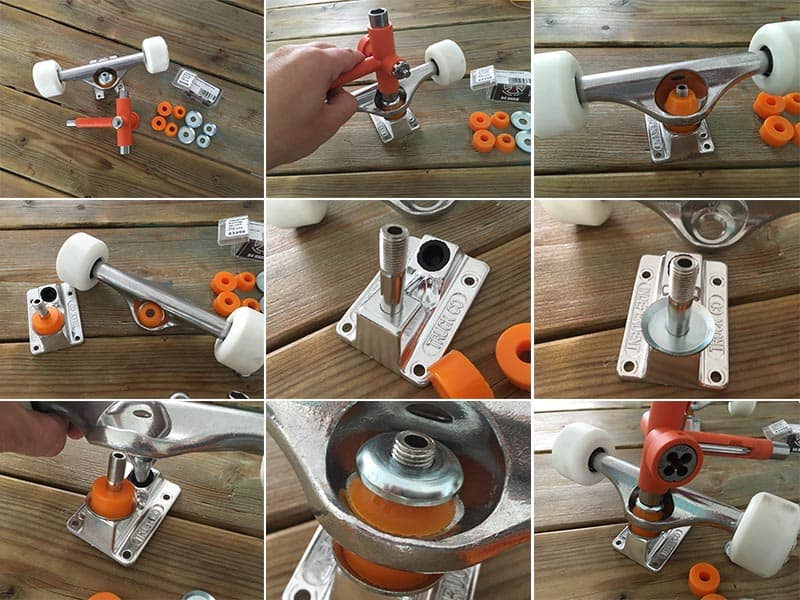 how to replace the bushings of your skateboard truck