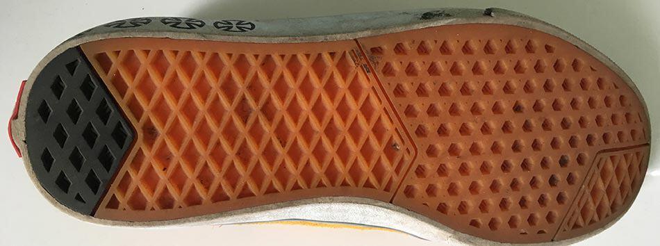 shoe sole tread waffle pattern