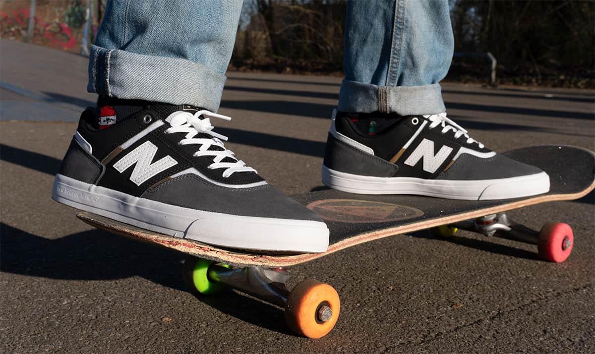 skate shoes on a skateboard