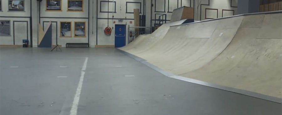 transition skateboarding park