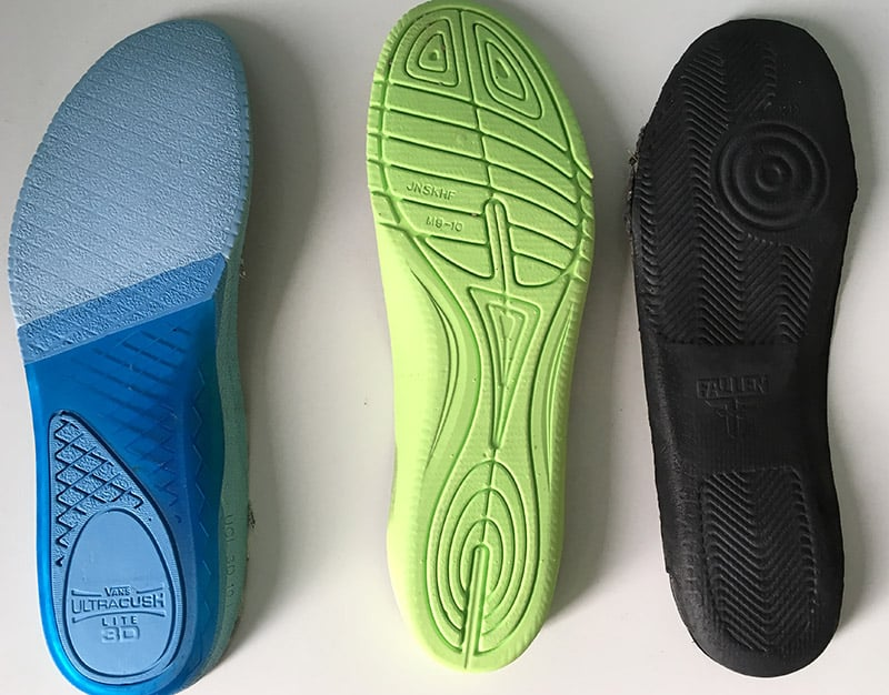 standard insoles for skate shoes