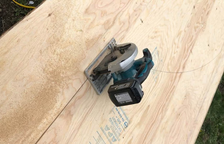 Cut the mini ramp Transitions and Lumber