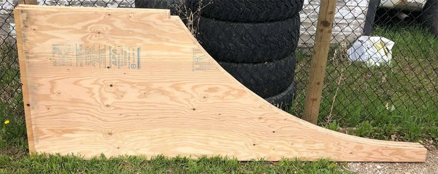 finished mini ramp transition side