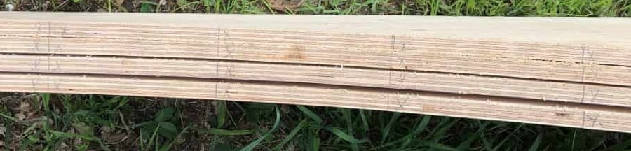marked flat bottom wooden boards