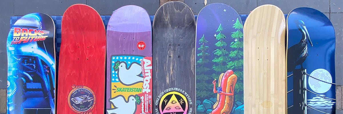 different skateboard shapes and sizes