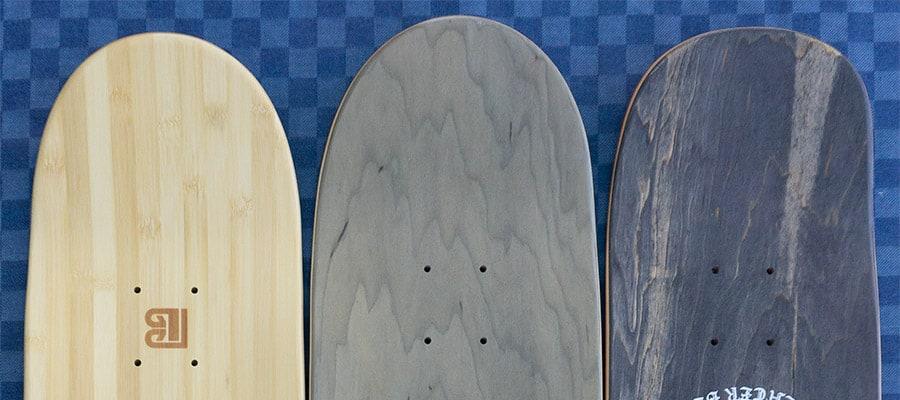 skateboard tail shapes