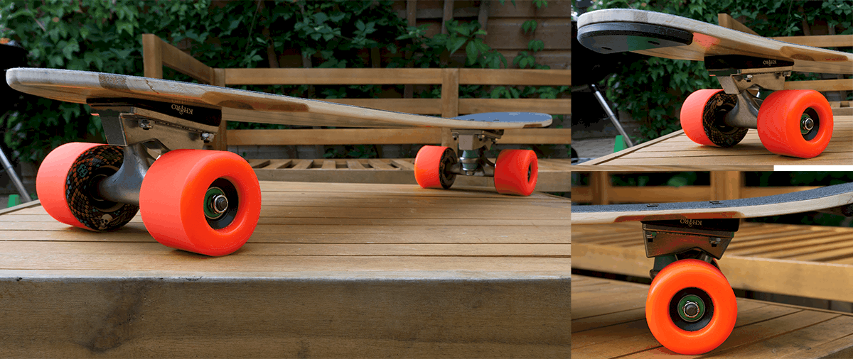 comet cruiser longboard from different angles