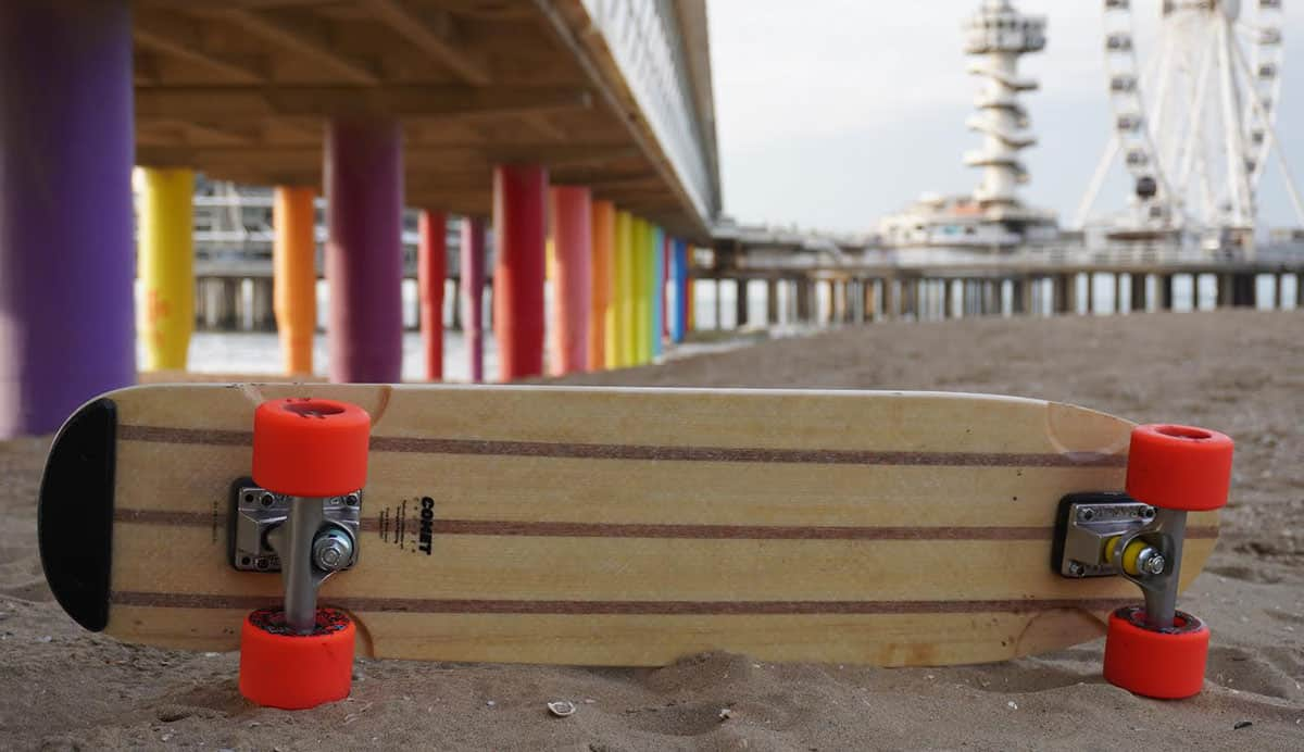 Comet Cruiser Skateboard on a beach