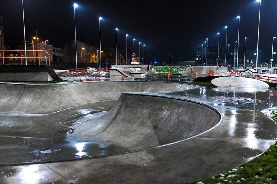 Skatepark after rain