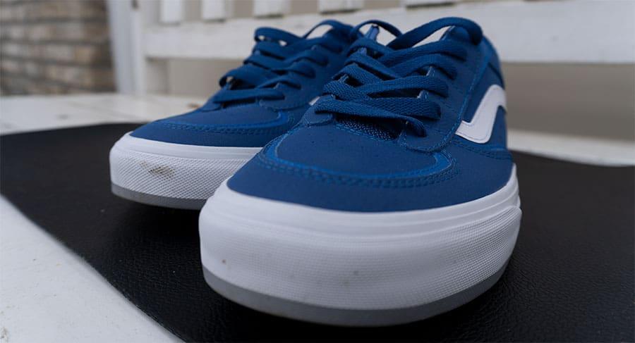 pair of vans skate shoes