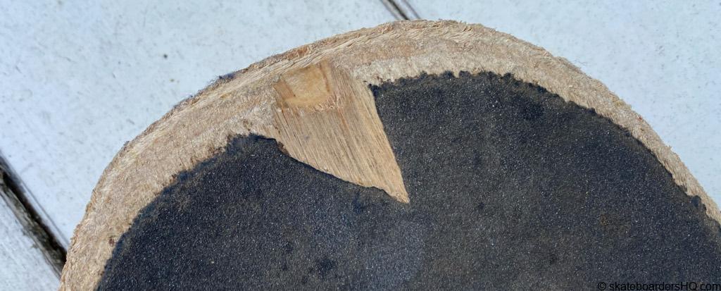 Flip skateboard deck nose chip