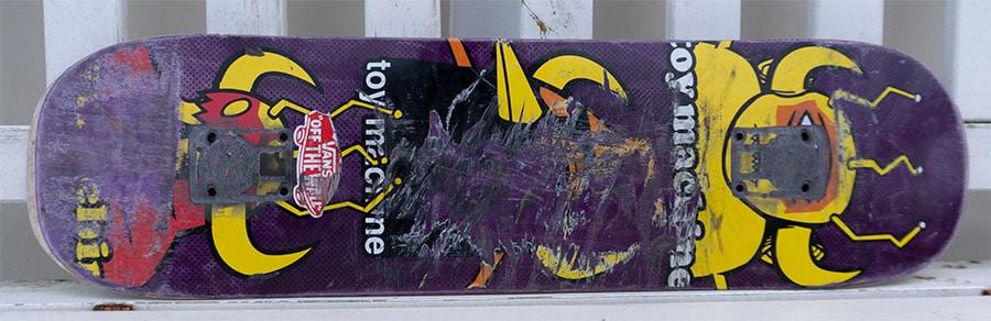 Toy machine used skateboard deck