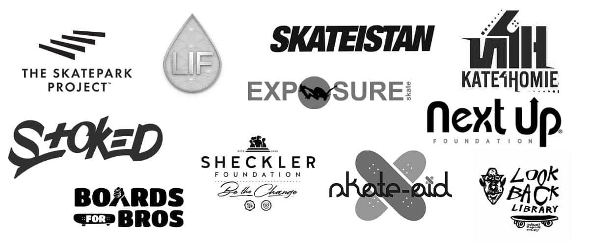 nonprofit skateboard organizations logos