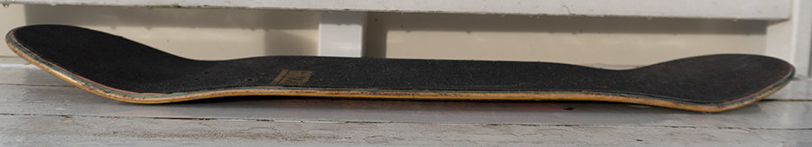 skateboard deck concave