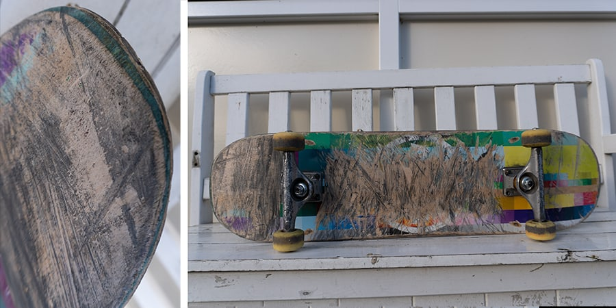 Used Almost skateboard deck and wear