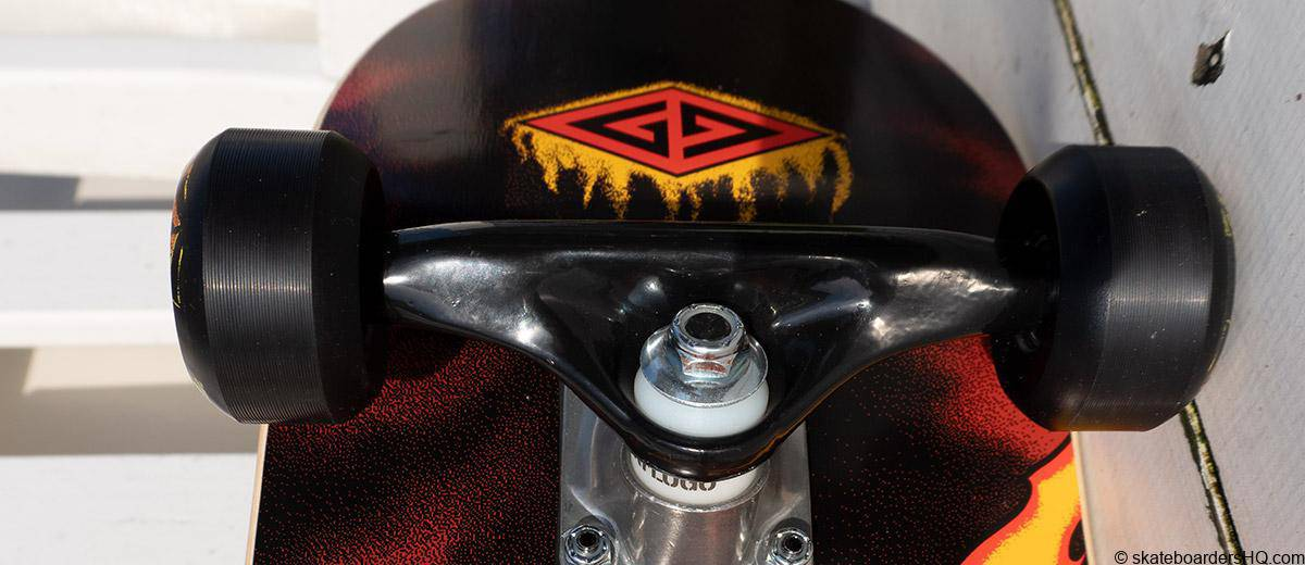 Powell Peralta Golden Dragon trucks and wheels