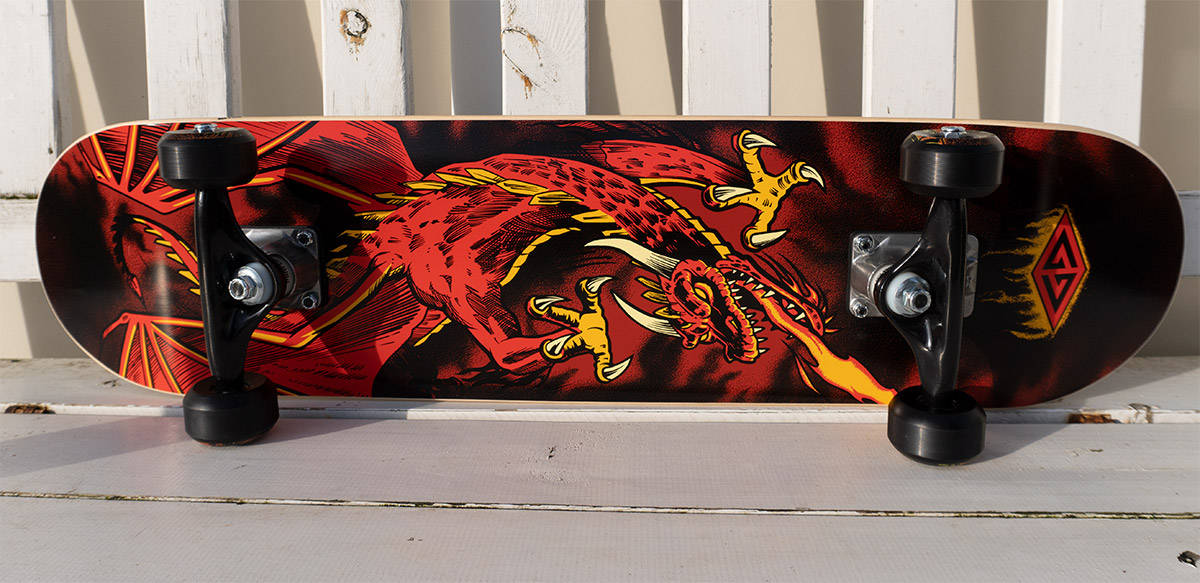 Powell peralta golden dragon skateboard for kids