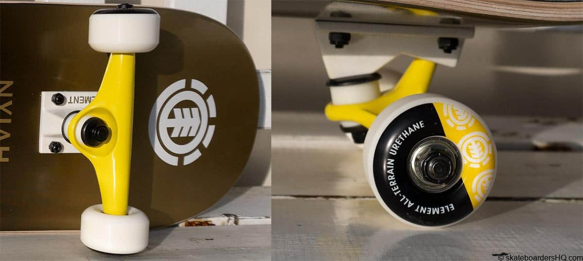 element kids skateboard trucks and wheels