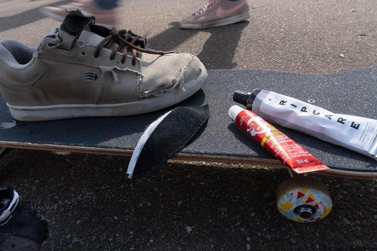 repairing skate shoes