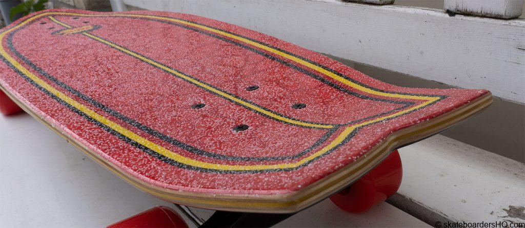 santa cruz flame dot cruiser skateboard deck