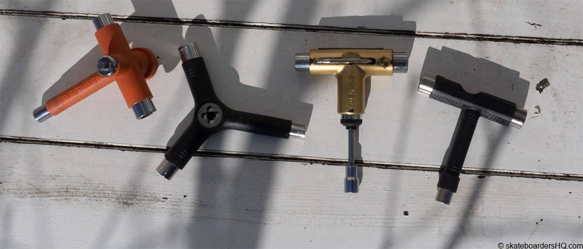 several skateboard tools