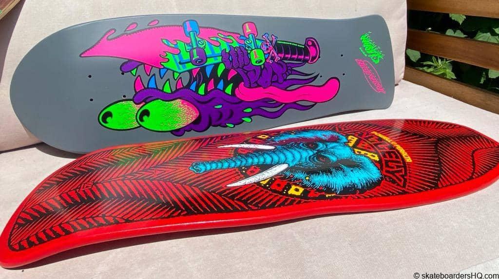 Old school skateboard decks