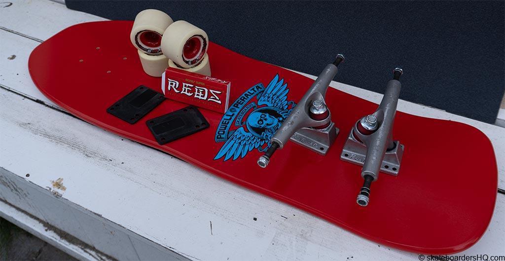 Old school skateboard parts